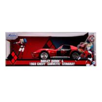 Harley Quinn 1969 Chevy Corvette Stingray és fém figura