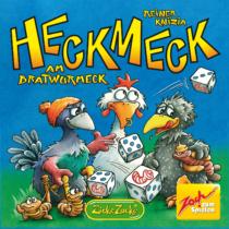 Heckmeck Grill társasjáték kockával és dominó kártyával