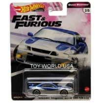Hot Wheels Fast&Furious fém kisautó Nissan Skyline GT-R (BCNR33)