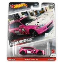 Hot Wheels fém kisautó Hello Kitty Honda Civic
