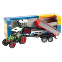 Játékautó Fendt traktor 209 S utánfutóval műanyag Bruder 1:16