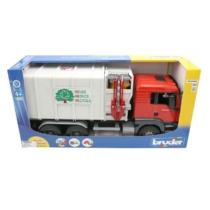 Játékautó MAN szemétszállító teherautó Recycle műanyag 1:16