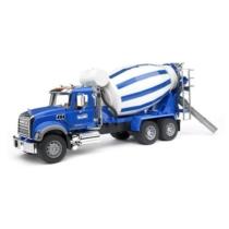 Játékautó Mack betonkeverő teherautó műanyag Bruder 1:16