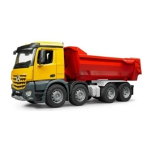 Játékautó Mercedes-Benz Arocs teherautó billenő konténerrel műanyag Bruder 1:16