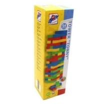 Játéktorony Tonny Tower színes fa 50 db-os Woody