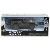 Jeep Willys katonai fém autó 1:32