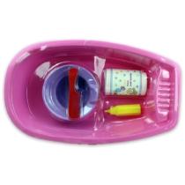 Kád műanyag kiegészítőkkel 5 db-os Rózsaszín