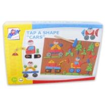 Kalapácsos játék Kipp-kopp autós 229 db-os fa Woody