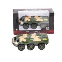 Katonai jármű terep színű fém gyalogsági szállító 1:64