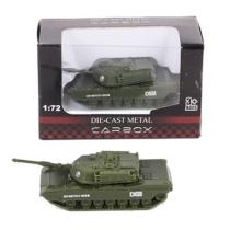 Katonai jármű terep színű fém tank 1:72