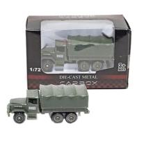Katonai jármű terep színű fém teherautó 1:72