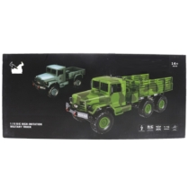 Katonai teherautó távirányítós kék R/C 1:16