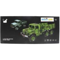Katonai teherautó távirányítós zöld R/C 1:16