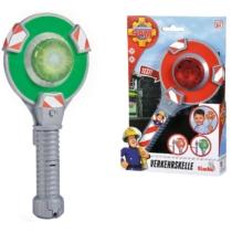 Kézi jelzőlámpa zöld-piros fénnyel Sam, a tűzoltó