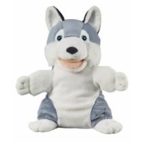 Kézibáb plüss kutya Husky 25 cm