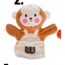 Kézibáb plüss majom 22 cm