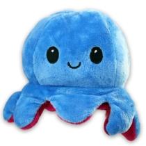 Kifordítható hangulat polip plüss kék-lila 12 cm