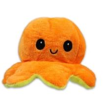 Kifordítható hangulat polip plüss narancs-citromsárga 12 cm