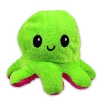 Kifordítható hangulat polip plüss zöld-pink 12 cm