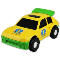 Kisautó Rally műanyag sárga