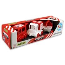 Kisautó játék szett Mentőautók 3 db-os piros-fehér műanyag Kid Cars