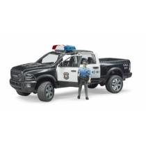 RAM 2500 rendőrségi terepjáró játékfigurával műanyag Bruder 1:16