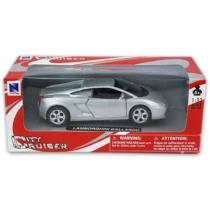 Lamborghini Gallardo ezüst fémautó 1:32