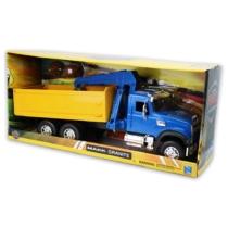 Mack Granite billencs kamion kék és sárga műanyag