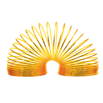 Magic Spring lépcsőjáró rugó műanyag metál sárga színben