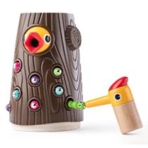 Mágneses játék harkály kiegészítőkkel 10 db-os fa Woody