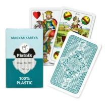 Magyar kártya plasztik zöld 32 db-os
