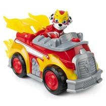 Mancs őrjárat Mighty Pups Super Paws Marshall deluxe tűzoltó járgánya figurával