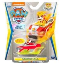 Mancs őrjárat fém autó Mighty Pups Charged Up Marshall járműve piros