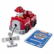 Mancs őrjárat jármű műanyag Marshall piros tűzoltóautó csörlővel