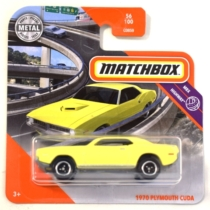 Matchbox fém kisautó 1970 Plymouth Cuda sárga 56/100