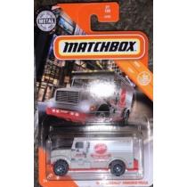 Matchbox fém kisautó International Armored Truck szürke 27/100