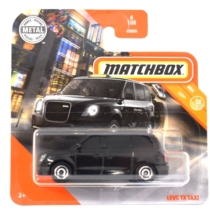 Matchbox fém kisautó Levc TX Taxi fekete 6/100