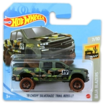Mattel Hot Wheels fém kisautó '19 Chevy Silverado Trail Boss LT