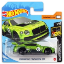 Mattel Hot Wheels fém kisautó 2018 Bentley Continental GT3
