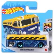 Mattel Hot Wheels fém kisautó Surfin' School Bus