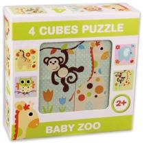 Mesekocka kirakó 4 db-os baby állatkert