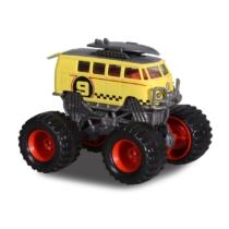 Majorette Monster ruckers VW kisbusz sárga-szürke