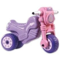 Műanyag Cross Motor lábbal hajtós rózsaszín 50 cm
