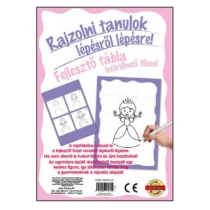 Munkafüzet Rajzolni tanulok fejlesztő tábla Hercegnős lila