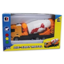 Munkagép sárga fém betonkeverő 1:64