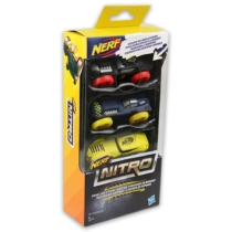 NERF Nitro szivacsautó 3 db-os készlet fekete, kék, sárga