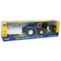 New Holland T7.315 műanyag traktor kiegészítőkkel és hangeffekttel 1:24