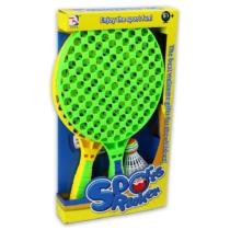 Nyári sport tollasütő készlet szivacs és tollaslabdával zöld citromsárga