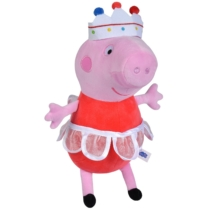 Peppa Pig kosztümös plüss figura királyfi 30 cm