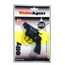 Pisztoly revolver patronos 8 lövetű forgótáras Olly műanyag